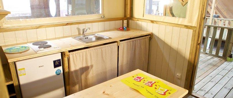 Evasion 4p domaine la bosse for Combien coute une cuisine amenagee