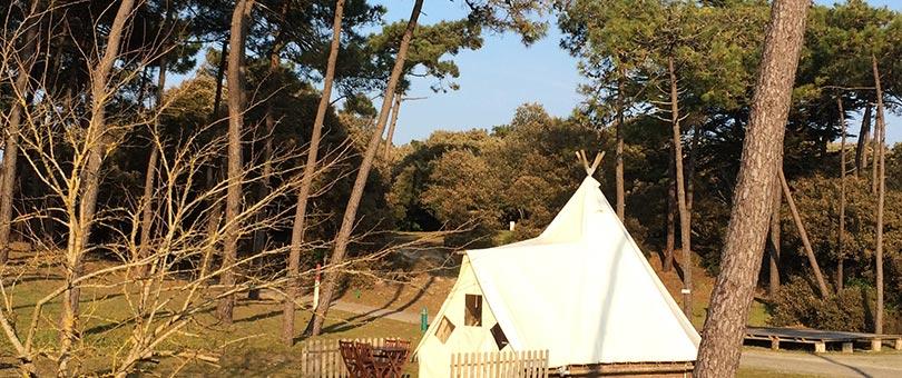 Vacances en tipi passer ses vacances en tipi dans un camping noirmoutier - Camping noirmoutier tipi ...